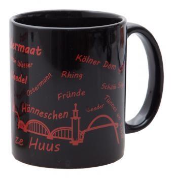 KG Kaffeebecher Veedel schwarz/rot