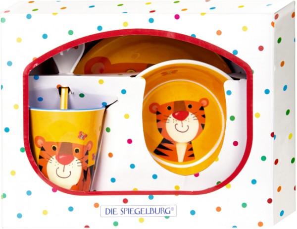 Freche Rasselbande Tiger Melamin-Geschenkset