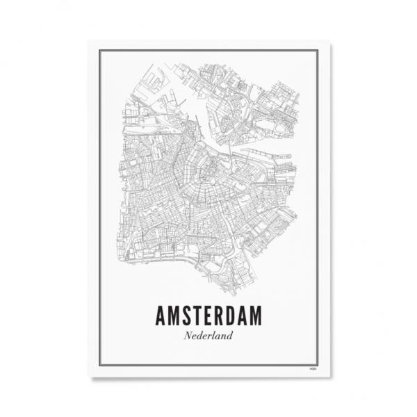 Poster AMSTERDAM - STADT 30 x 40 cm