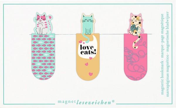 Magnetlesezeichen Love Cats