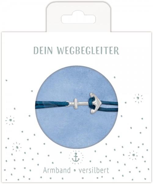 Armband mit Ankeranhänger (versilbert)