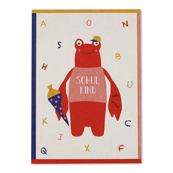 Postkarte Hummer – Schulkind