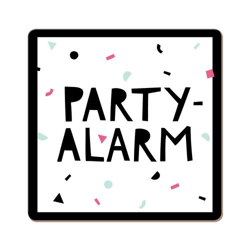 Korkuntersetzer Party-Alarm