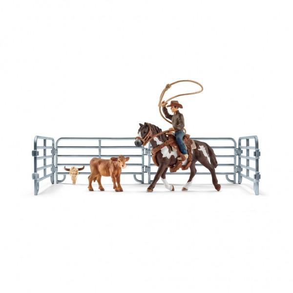 Schleich Farm World 41418 Team roping mit Cowboy