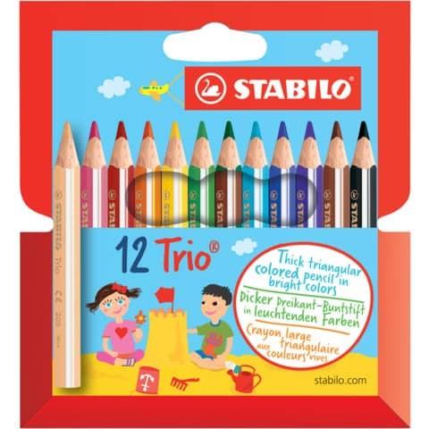 Farbstift Trio dick kurz 12er STABILO
