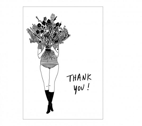 Grußkarte flower girl