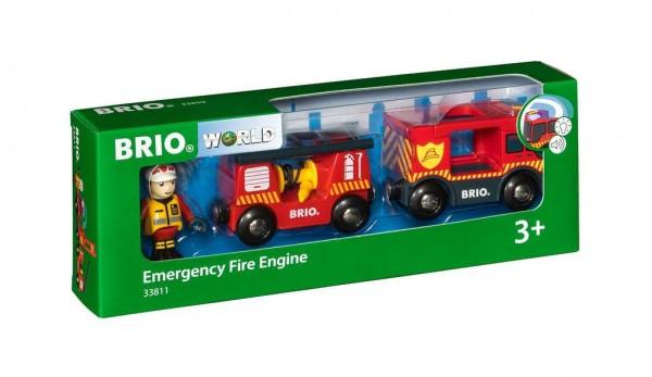 Feuerwehr Leiterfahrzeug mit Licht