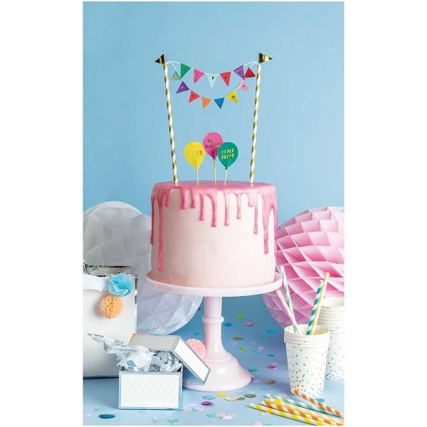 Kuchendekoration Happy Birthday, Multicolor