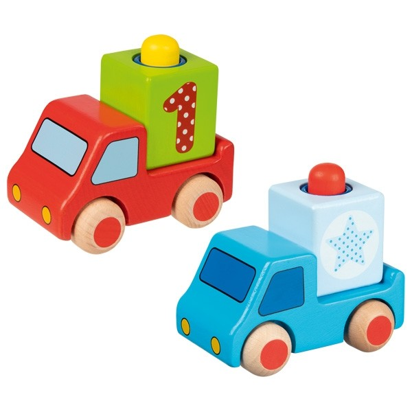Fahrzeug mit Hupe einzeln (verschiedene Farben)