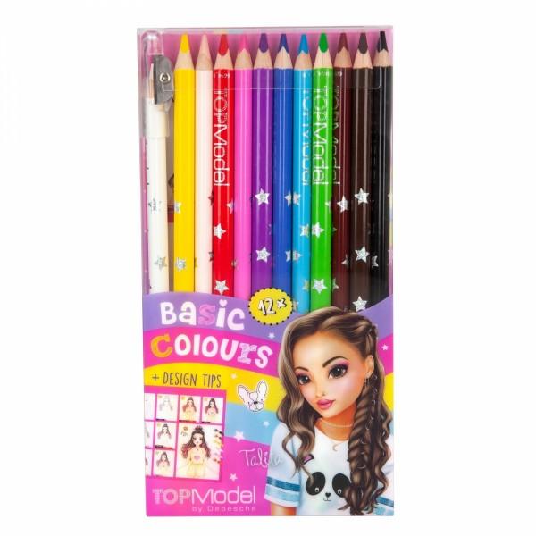 TOPModel Buntstifteset 12 Basic Farben