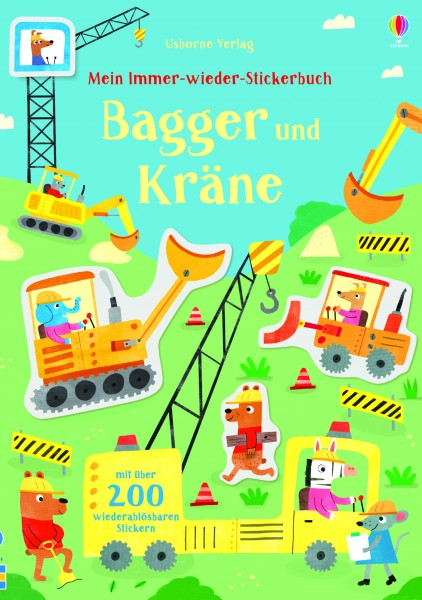 Hannah Watson, Mein Immer-wieder-Stickerbuch: Bagger und Kräne