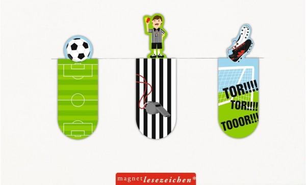 Magnetlesezeichen Fußball