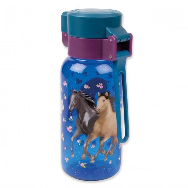 Trinkflasche Glitzer Pferd