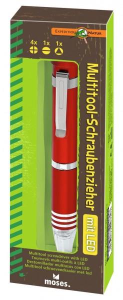 Expedition Natur Multitool-Schraubenzieher mit LED (versch. Farben)