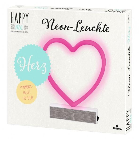 Happy me Neon-Leuchte Herz