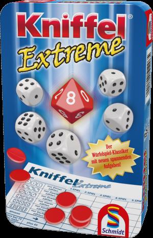 Kniffel® Extreme, Bring-Mich-Mit-Spiel in Metalldose