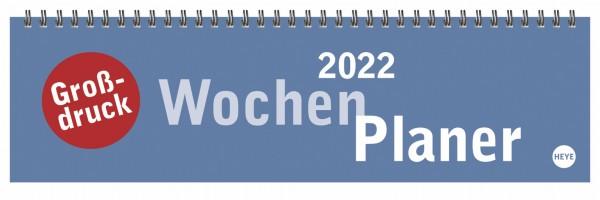 Großdruck Wochenquerkalender - Kalender 2022