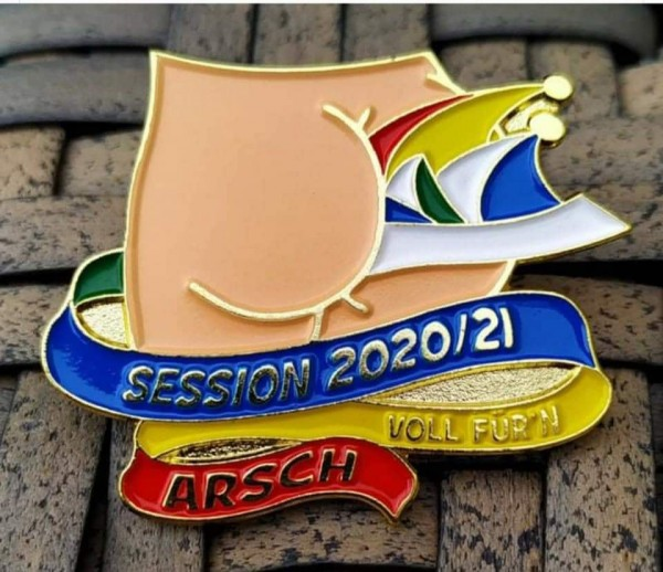 """Pin """"Session 2020/21 Voll für'n Arsch"""""""
