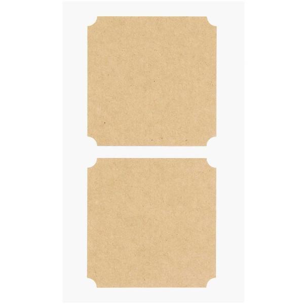 Rico Design Kraftpapiersticker große Etiketten