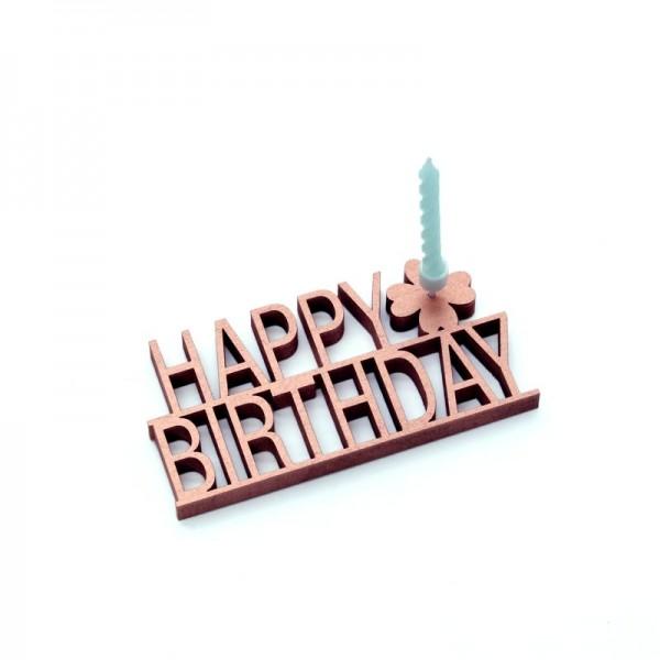 NOGALLERY Happy Birthday - grau