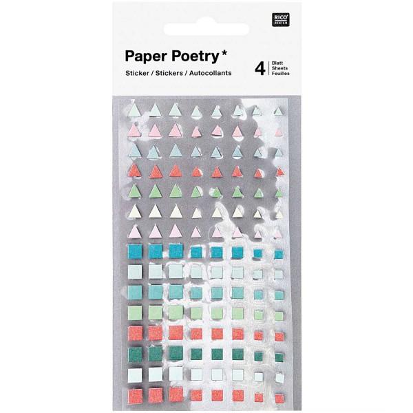 Sticker, Bullet Diary, Dreiecke/Quadrate