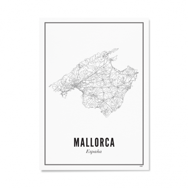 Poster MALLORCA - STADT 30 x 40 cm