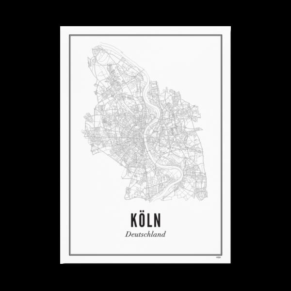 Poster KÖLN - STADT 50 x 70 cm