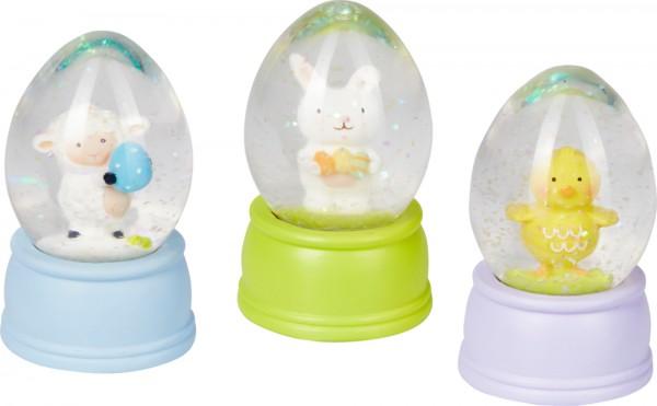 Schneekugel Ei Fröhliche Ostern