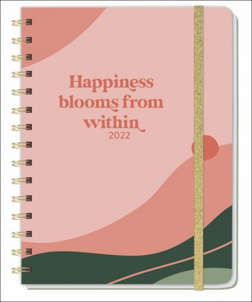 Happiness blooms from within Spiral-Kalenderbuch - Kalender 2022