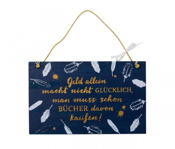 Holzschild BücherLiebe!