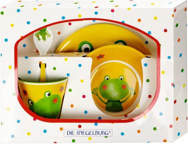 Freche Rasselbande Frosch Melamin-Geschenkset