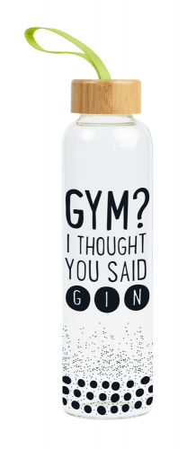 Glas-Trinkflasche Gym