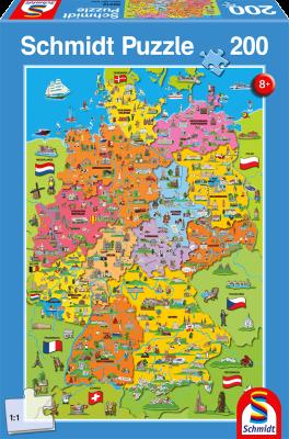 Deutschlandkarte mit Bildern, 200 Teile