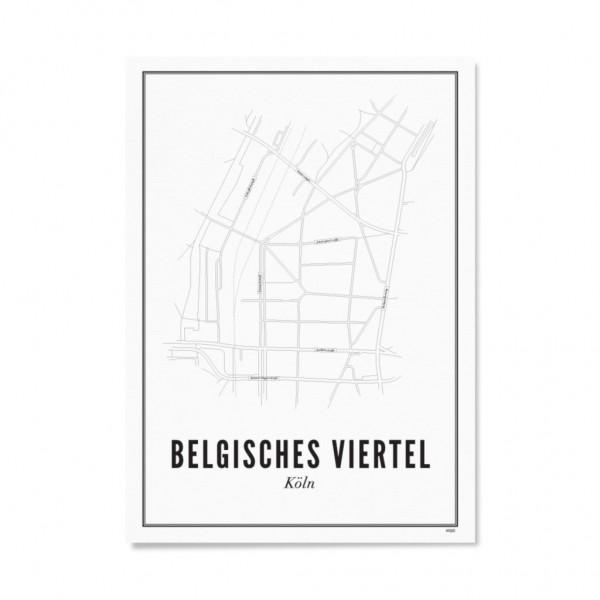 Poster KÖLN - BELGISCHES VIERTEL 30 x 40 cm