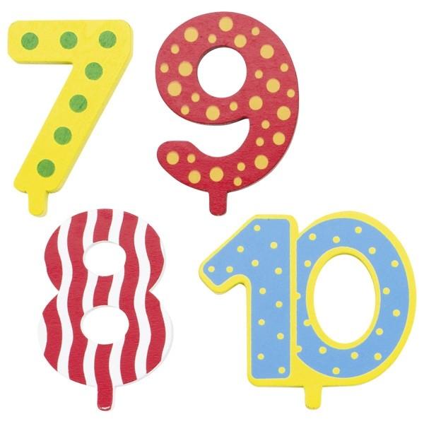 Geburtstagszug - Zusätzliche Zahlen 7, 8, 9, 10