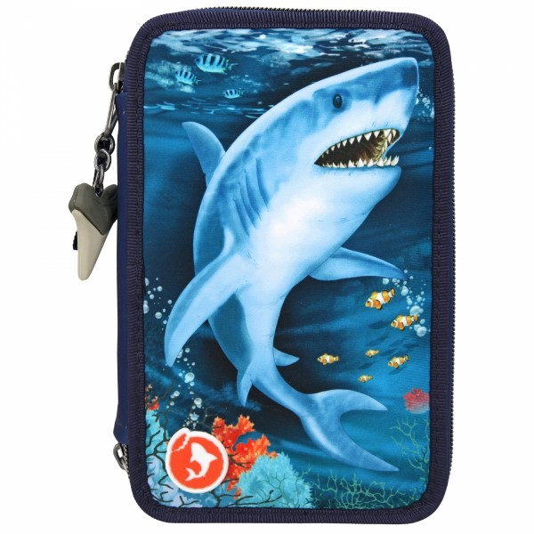 Dino World 3-fach Federtasche LED UNDERWATER