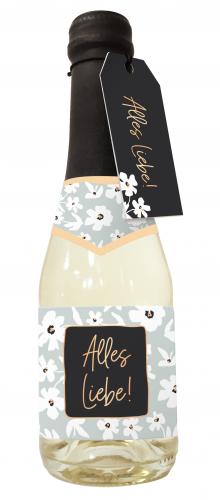 Beerenperlwein-Flasche 0,2l Alles Liebe!