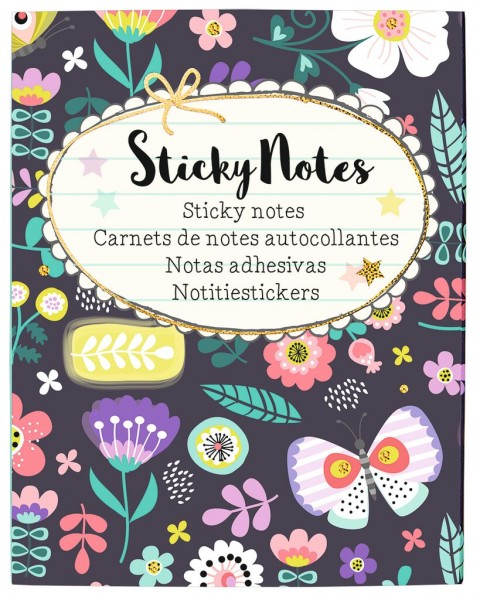 Flowers & Friends Sticky Notes
