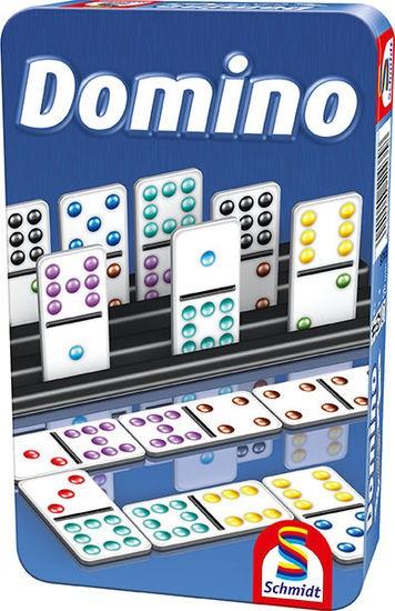 Domino, Bring-Mich-Mit-Spiel in Metalldose