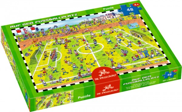 Boxpuzzle Auf dem Fußballplatz (48 Teile)