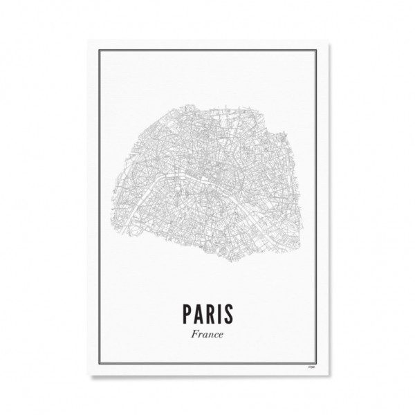 Poster PARIS - STADT 21 x 30 cm