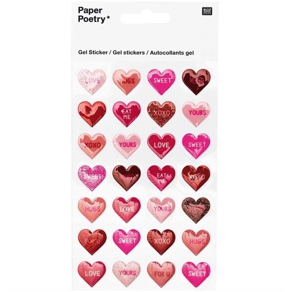 Sticker Herzen Love&Kiss
