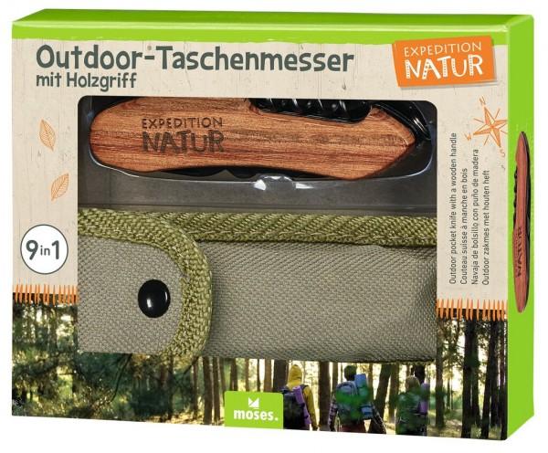 Expedition Nature Outdoor Taschenmesser mit Holzgriff