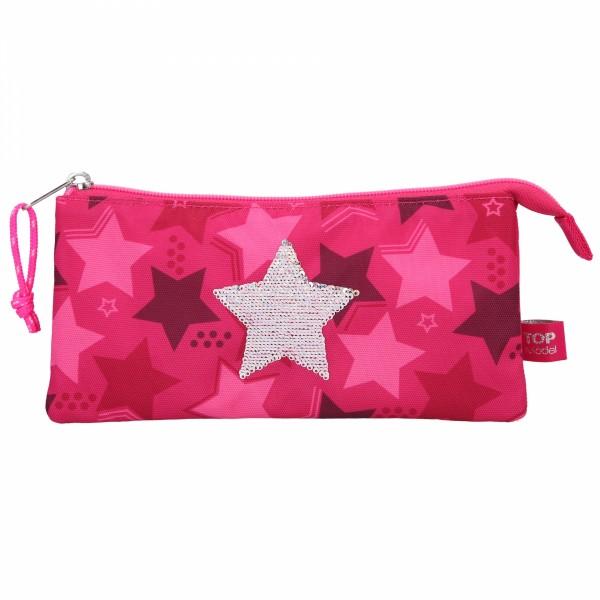 TOPModel Fächerschlamper Streichpaillette Stern Pink