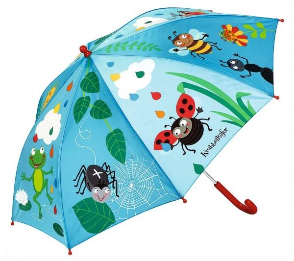 Krabbelkäfer Regenschirm Bunte Tropfen