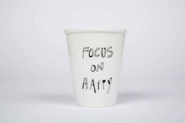 Becher focus on happy