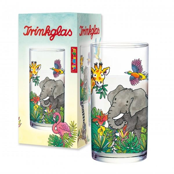 Trinkglas Zootiere