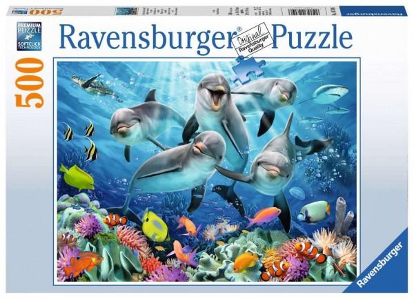 Puzzle Delfine im Korallenriff