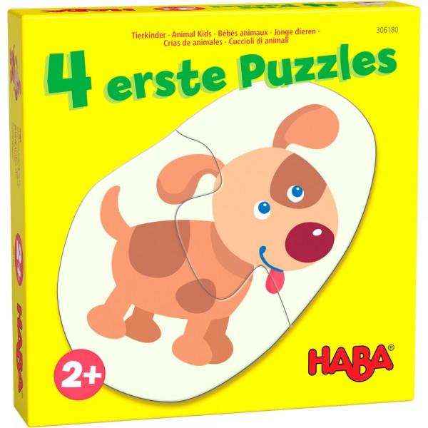 4 erste Puzzle Tierkinder