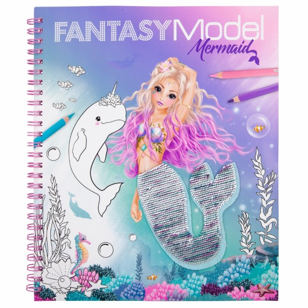 Fantasy Model Malbuch Streichpaillette MERMAID